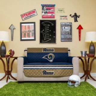 Los Angeles Rams Quilted Loveseat Cover