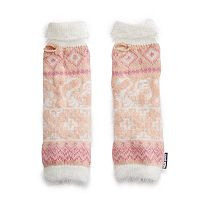Women's MUK LUKS Romance Eyelash Knit Arm Warmers