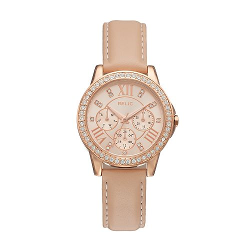 Relic Women's Layla Crystal Leather Watch