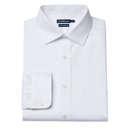 Men's Croft & Barrow® Easy-Care True Comfort Classic-Fit Oxford Stretch Dress Shirt