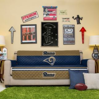 Los Angeles Rams Quilted Sofa Cover