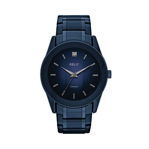Relic Men's Rylan Diamond Accent Blue Watch