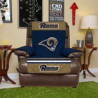 Los Angeles Rams Quilted Recliner Chair Cover