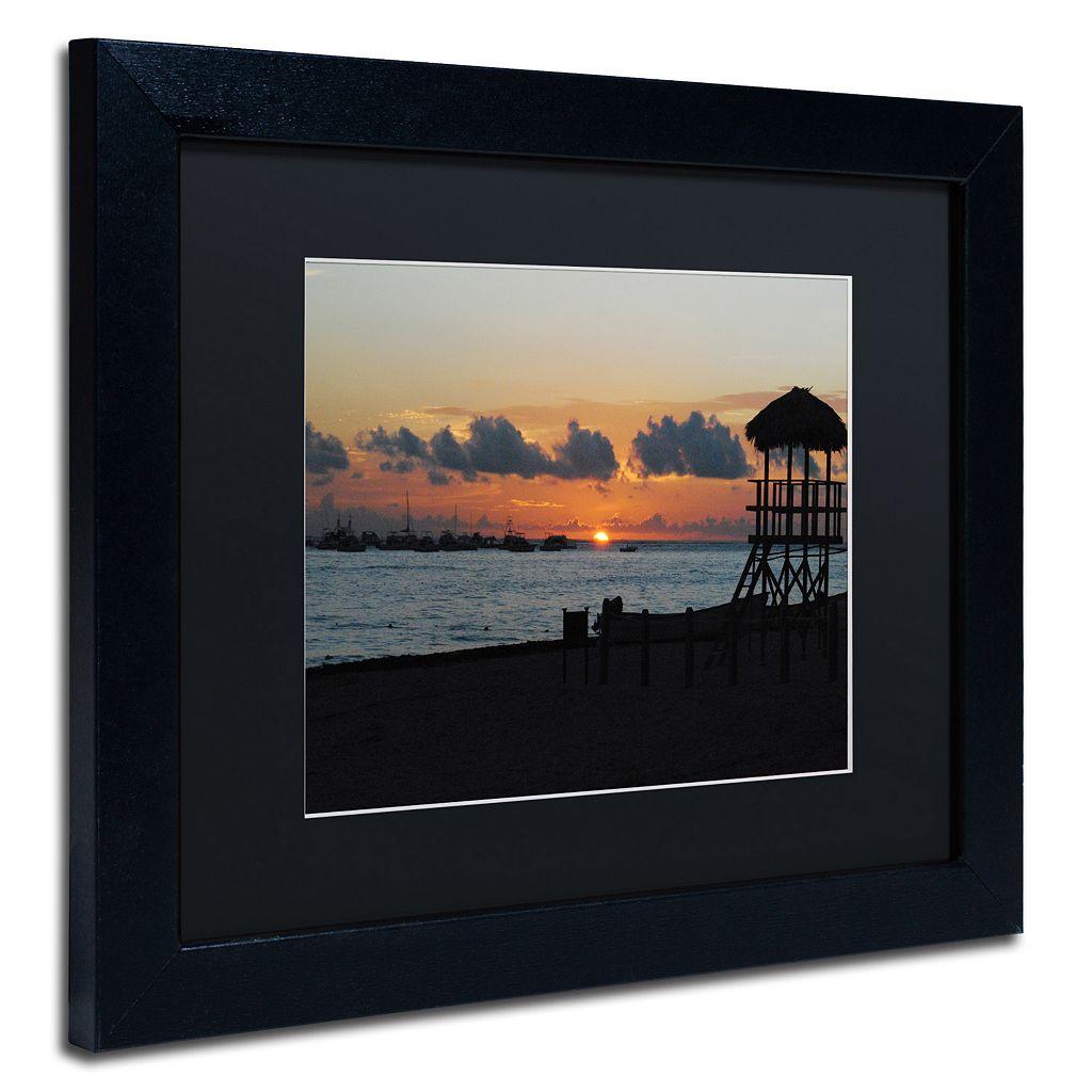 Trademark Fine Art Me Ke Aloha Pumehana Black Framed Wall Art