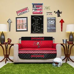 Tampa Bay Buccaneers Quilted Loveseat Cover