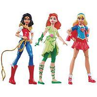 DC Comics DC Super Hero Girls Wonder Woman, Supergirl & Poison Ivy Action Figures by Mattel