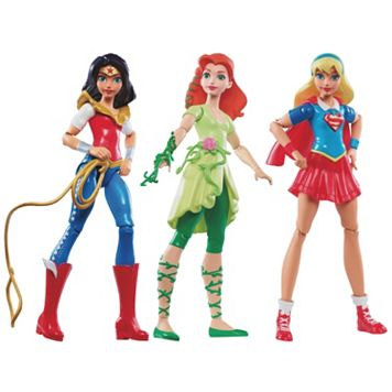 DC Comics DC Super Hero Girls Wonder Woman, Supergirl & Poison Ivy Action Figures by Mattel
