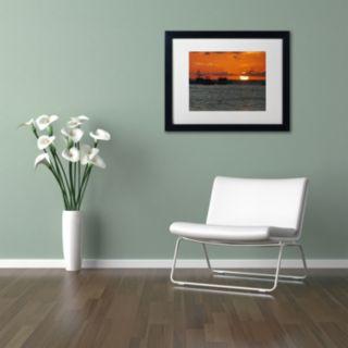 Trademark Fine Art Never Distant Black Framed Wall Art