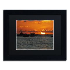 Trademark Fine Art Never Distant Black Framed Wall Art