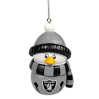 Forever Collectibles Oakland Raiders Penguin Bell Christmas Ornament