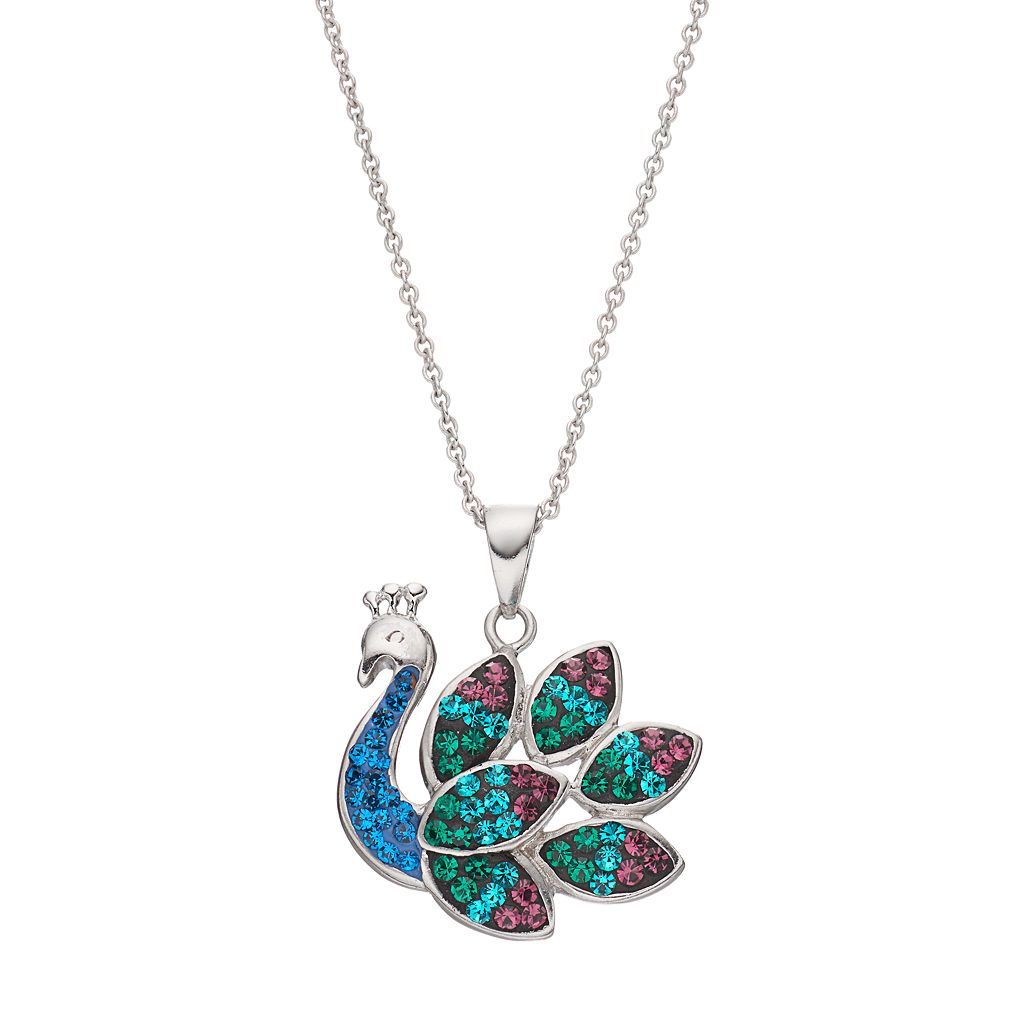 Crystal Peacock Pendant Necklace