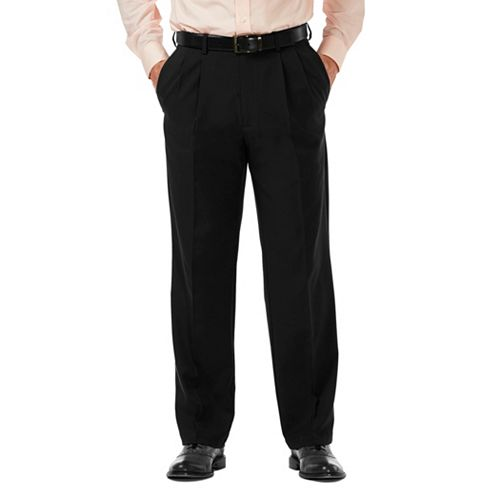Men's Haggar® Cool 18® PRO Classic-Fit Wrinkle-Free Pleated Expandable Waist Pants