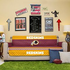 Washington Redskins Quilted Sofa Cover