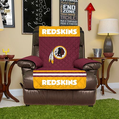 Brilliant Washington Redskins Quilted Recliner Chair Cover Squirreltailoven Fun Painted Chair Ideas Images Squirreltailovenorg