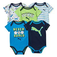 Baby Boy PUMA 5-pk. Graphic & Print Bodysuits