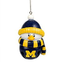 Forever Collectibles Michigan Wolverines Penguin Bell Christmas Ornament