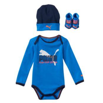 Baby Boy PUMA 3-pc. Bodysuit, Hat & Booties Set