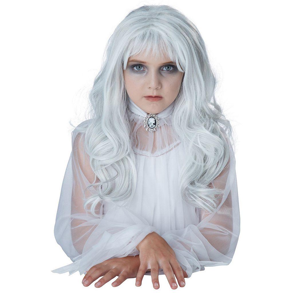 Kids Ghost Child Costume Wig