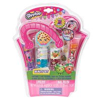 Shopkins Nail Polish, Nail Stickers, Lip Gloss, Temporary Tattoos & Body Gems Beauty Set