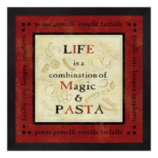 Metaverse Art Pasta Sayings I Framed Wall Art