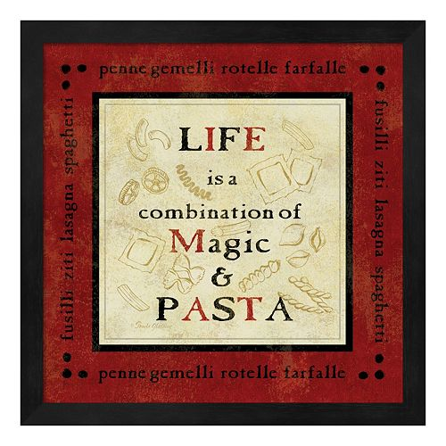 Metaverse Art Pasta Sayings I Framed Wall Art