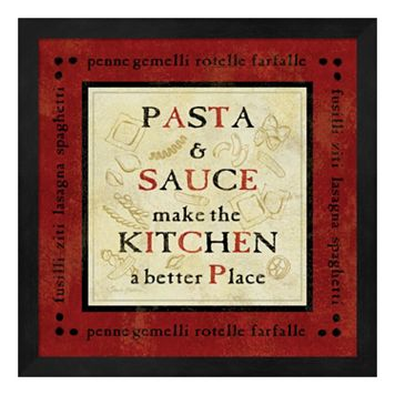 Metaverse Art Pasta Sayings II Framed Wall Art