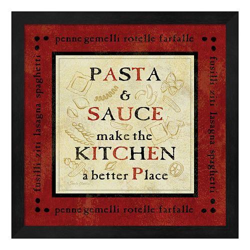 Metaverse Art Pasta Sayings II Framed Wall Art