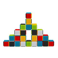 Infantino 24 pc Press & Stay Sensory Blocks