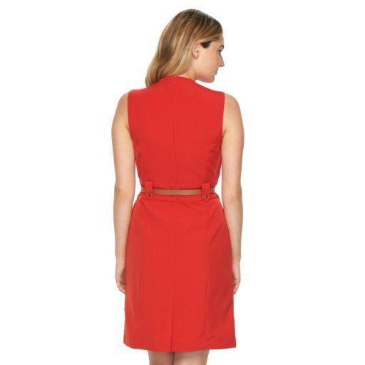 Women's Sharagano Splitneck Sheath Dress