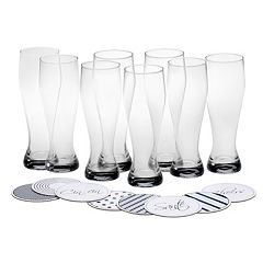 Mikasa Cheers 16-pc. Wheat Beer Glass & Coaster Set
