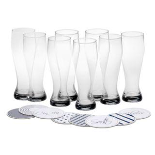 Mikasa Cheers 16-pc. Wheat Beer Glass & Coaster Set