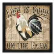 "Metaverse Art ""Life Is Good On The Farm"" Framed Wall Art"