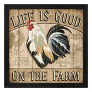 Metaverse Art 'Life Is Good On The Farm' Framed Wall Art