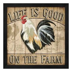 Metaverse Art 'Life Is Good On The Farm' Framed Wall Art
