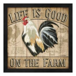 "Metaverse Art ""Life Is Good On The Farm"" Framed Wall Art"
