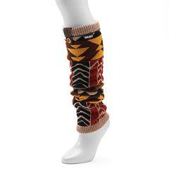 Women's MUK LUKS Geometric Knit Leg Warmers
