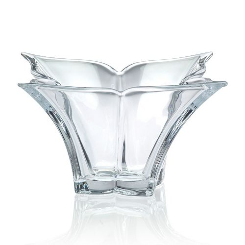 Mikasa Florale 14-in. Decorative Crystal Bowl