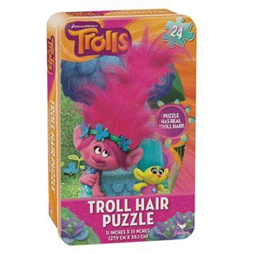 DreamWorks Trolls Hair Puzzle Tin by Cardinal