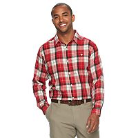 Men's Columbia Notched Peak Classic-Fit Plaid Button-Down Flannel Shirt