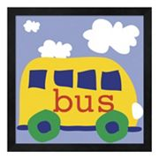 Metaverse Art Yellow School Bus Framed Wall Art