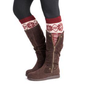 Women's MUK LUKS 2-pk. Snowflake Boot Toppers