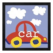 Metaverse Art Red Car Framed Wall Art