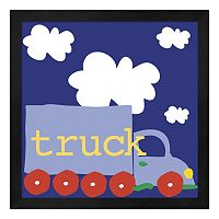 Metaverse Art Blue Truck Framed Wall Art