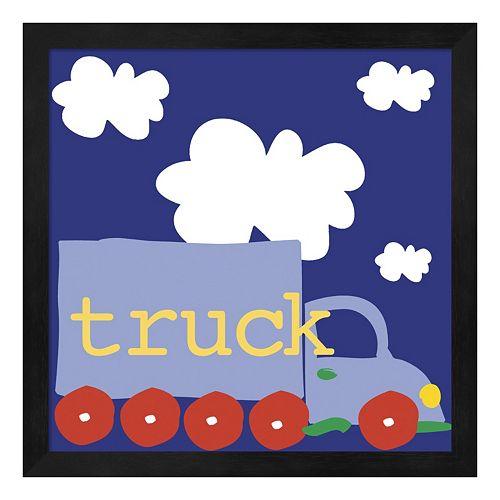 Metaverse Art Blue Truck Framed Wall Art