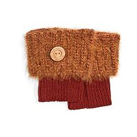 Women's MUK LUKS Fuzzy Knit Boot Toppers