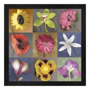 Metaverse Art Flower Nine Framed Wall Art
