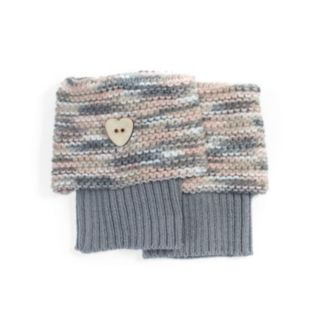 Women's MUK LUKS Marled Heart Boot Toppers