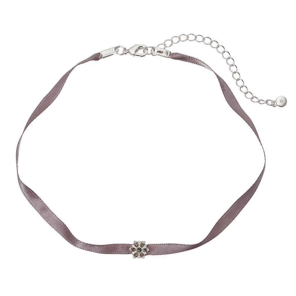 LC Lauren Conrad Snowflake Ribbon Choker Necklace