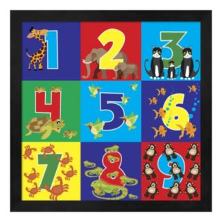 Metaverse Art Number Puzzle Framed Wall Art