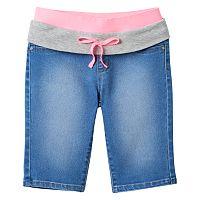 Girls 7-16 SO® Knit Waist Denim Bermuda Shorts